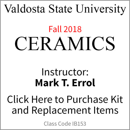 Valdosta State University Ceramics Fall 2018 Errol