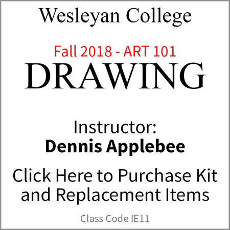Wesleyan Drawing 101 Fall 2018 Applebee