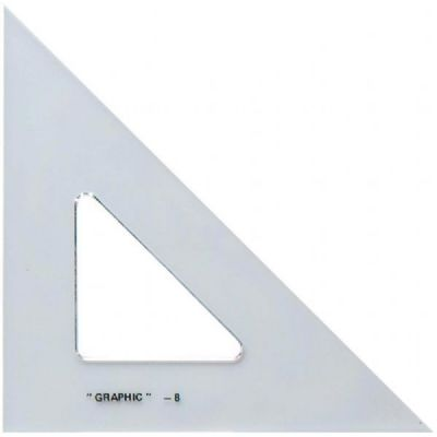 "Alvin 12"" 45/90 Triangle, Clear"