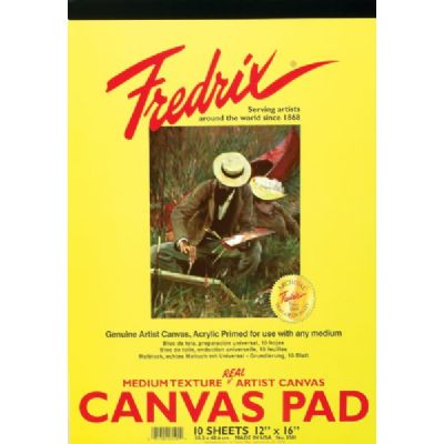 "Fredrix Canvas Pad, 12"" x 16"""