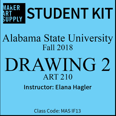 Student Kit: ASU Drawing 2 - Fall 2018/Hagler