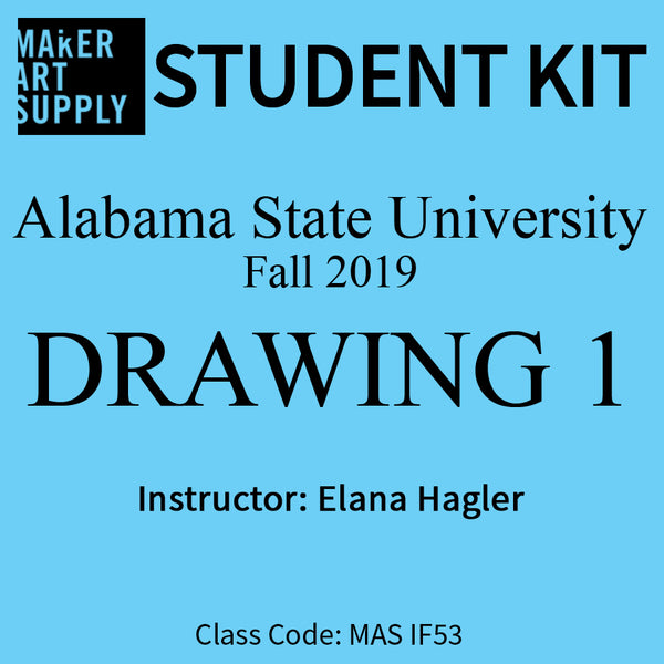 Student Kit: ASU Drawing 1 - Fall 2019/Hagler