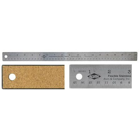 Alvin Steel Ruler with Cork Back