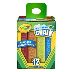 Crayola Washable Sidewalk Chalk, 12 Colors