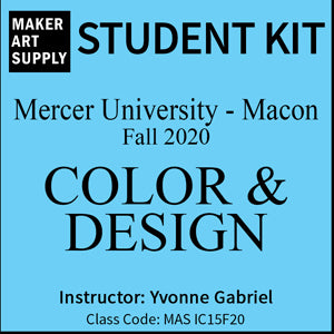 Student Kit: Mercer University Color & Design - Fall 2020/Gabriel