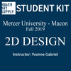 Student Kit: Mercer University 2D Design - Fall 2019/Gabriel