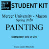 Student Kit: Mercer University Painting - Spring 2020/O'Dell