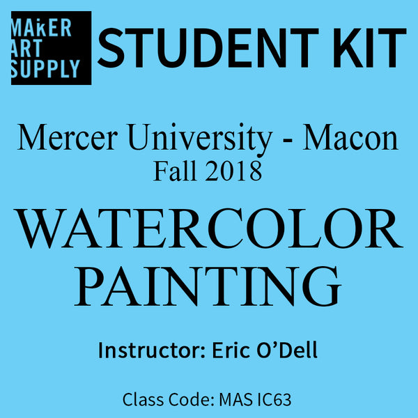Student Kit: Mercer University Watercolor Painting - Fall 2018/O'Dell