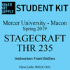 Student Kit: Mercer University Stagecraft THR 235 - Spring 2019/Rollins