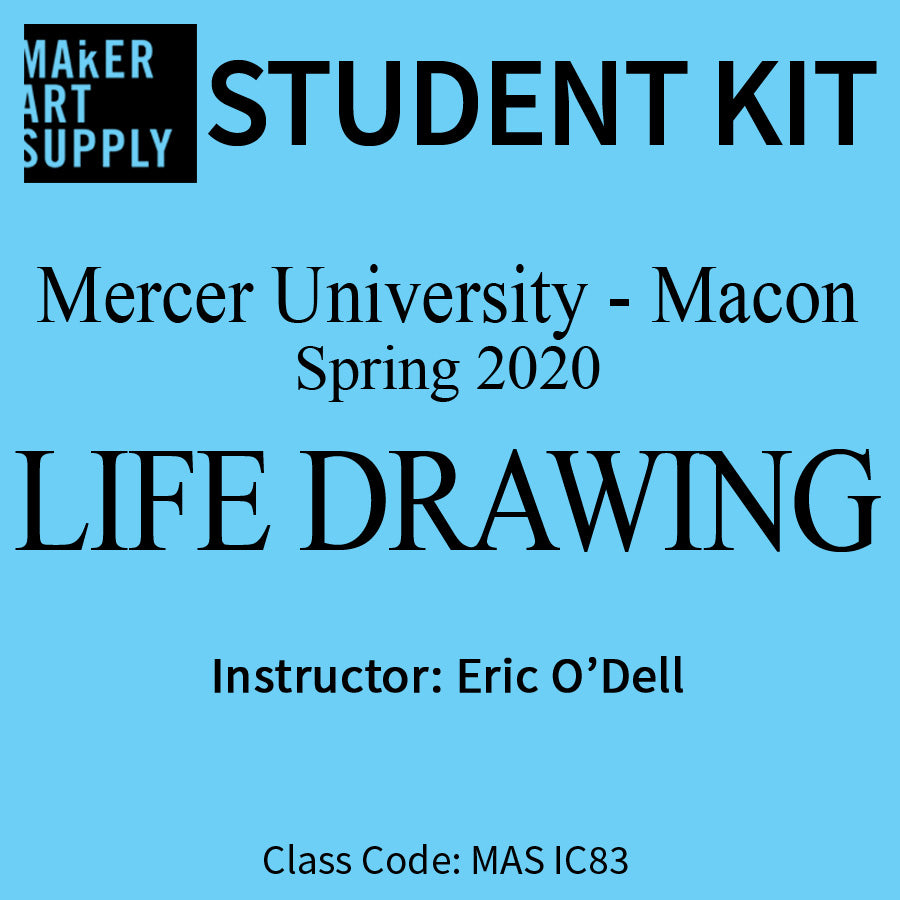 Student Kit: Mercer University Life Drawing - Spring 2020/O'Dell