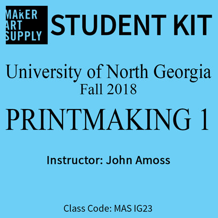Student Kit: UNG Printmaking I - Fall 2018/Amoss