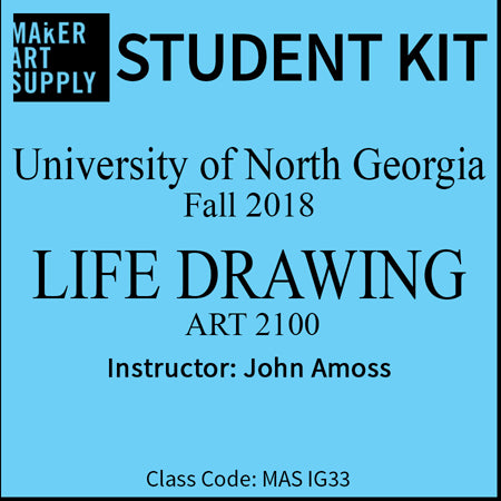 Student Kit: UNG Life Drawing Art 2100 - Fall 2018/Amoss