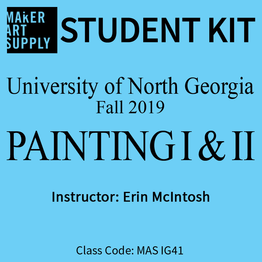 Student Kit: UNG Painting I & II - Fall 2019/McIntosh