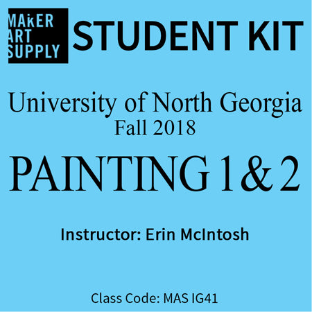 Student Kit: UNG Painting I & II - Fall 2018/McIntosh