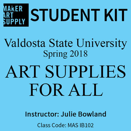 Student Kit: VSU Art Supplies for All - Spring 2018/Bowland