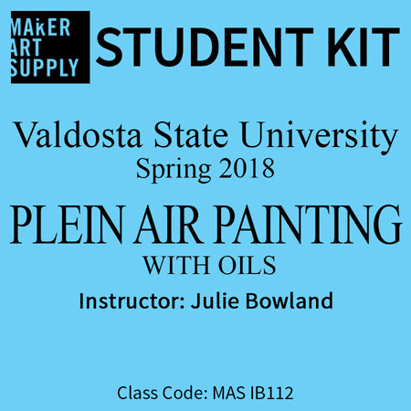 Student Kit: VSU Plein Air Painting with Oils - Summer 2018/Bowland