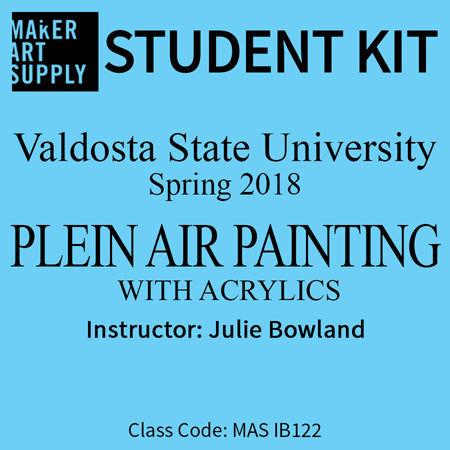 Student Kit: VSU Plein Air Painting with Acrylics - Summer 2018/Bowland