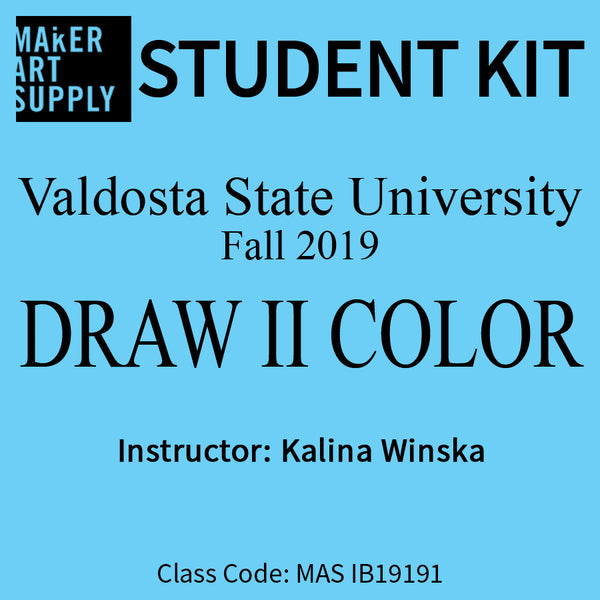 Student Kit: VSU Draw II Color - Fall 2019/Winska