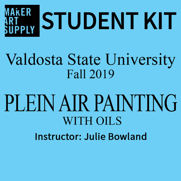 Student Kit: VSU Plein Air Painting with Oils - Fall 2019/Bowland