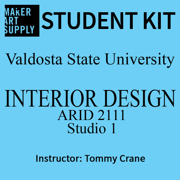 Student Kit: VSU ARID 2111 Interior Design Studio I - Tommy Crane