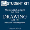 Student Kit: Wesleyan College Drawing - Fall 2018/Applebee