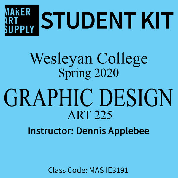 Student Kit: Wesleyan College Graphic Design ART 225 - Spring 2020/Applebee