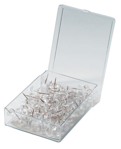 Alvin Push Pins, Clear, 100 Pins