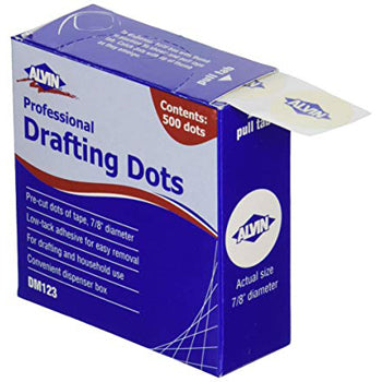 Alvin White Drafting Dots, Box of 500