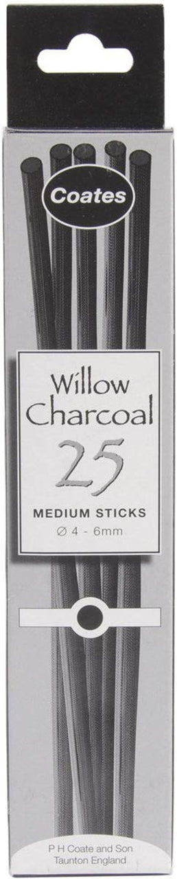 Coates Willow Charcoal, 25/bx