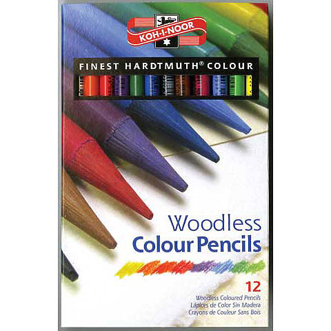 Progresso Woodless Colored Pencil Set, 24 Colors