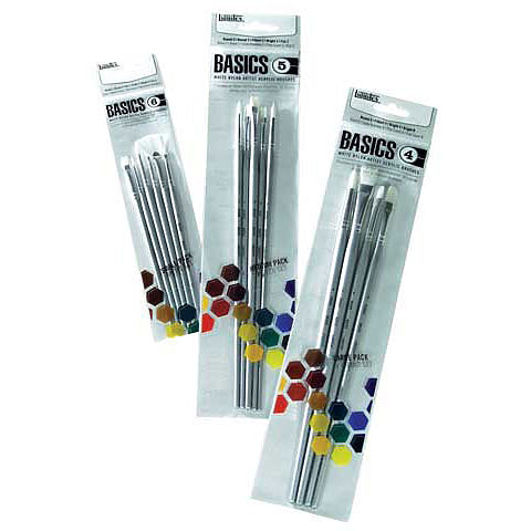 IB122 BASIC ACRYLIC BRUSH SET OF 4