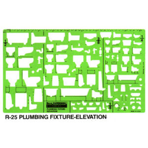 Plumbing Fixture Elevation Template R25