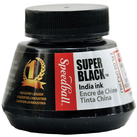 Speedball Super Black India Ink, 2 oz.
