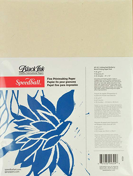 "Speedball Mulberry Paper, Pack of 25sh, 9""x12"""