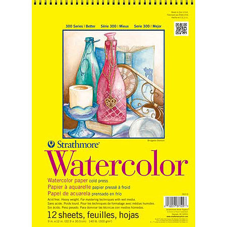 "Strathmore Wirebound Watercolor Pad, 9""x12"""