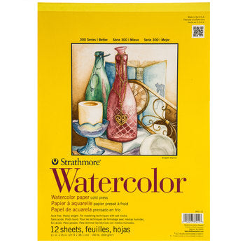 "Strathmore 300 Series Watercolor Pad, 11""x15"""