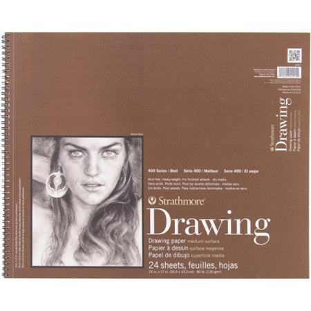 "Strathmore 400 Series Drawing Pad (Medium Surface), 14""x17"""