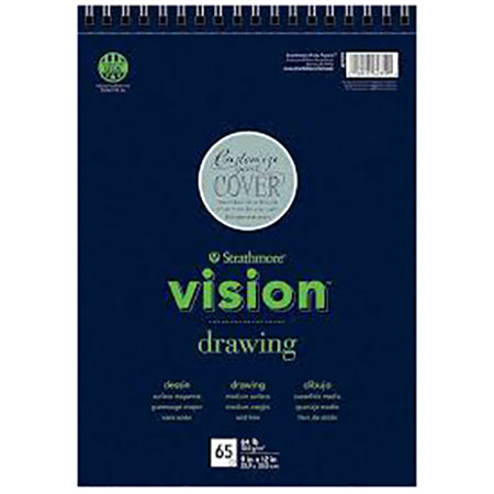 "Strathmore Vision Drawing Pad, 9""x12"" Wirebound"