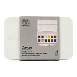 Winsor and Newton Cotman Watercolor and Brush Pen, Set of 12
