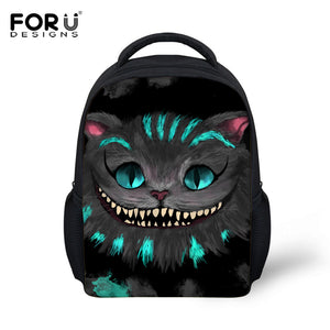 Childrens Boys Girls Gothic Fashion 3D Smiling Cat Shoulder Backpack also Kids Dinosaur School Bagpack