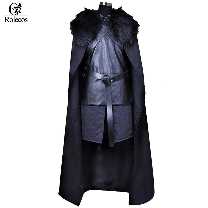 Rolecos Brand TV Series Game of Thrones Jon Snow Knights of the Blackwatch Cosplay Costume