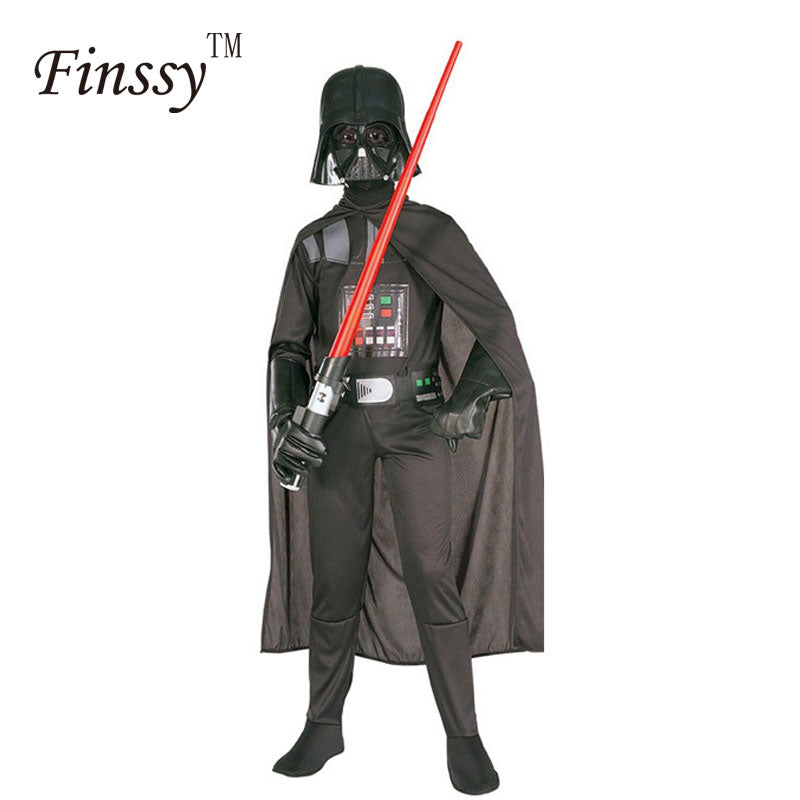 Kids Boys Girls Star Wars Darth Vader Costume With Cape Cosplay for Boys Girls