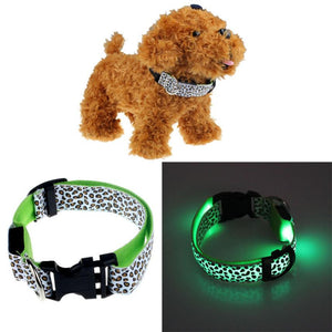 Pets Dogs Puppy Cats Leopard Print Reflective Collar