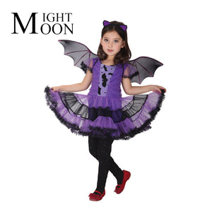 Moonight Girls Gothic Purple Bat Wings Dress Up Stage Performance Clothing