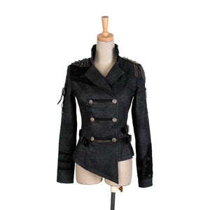 Womens Cool Gothic Military Steampunk Army Jacket