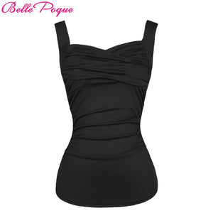Belle Poque Womens Vintage Gothic Black Top