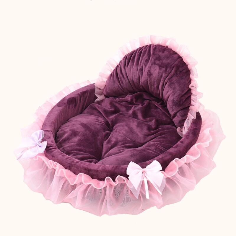 Pets Dogs Cats Puppy High Quality Lace Princess Luxury Bed