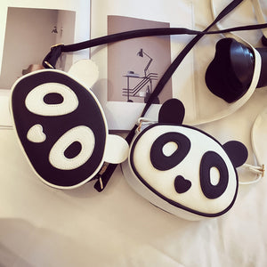 Womens Girls Cute Panda Leather Handbag Crossbody Shoulder Bag