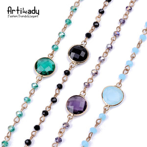 Artilady Gothic Medieval Style Multicolor Bead Choker Necklace
