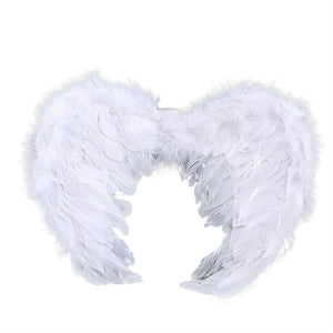 Womens Mens Kids Feather Angel Wings Stage Fancy Dress Outfit Cosplay Costume
